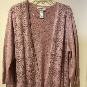 ALFRED DUNNER 2X PINK SWEATER